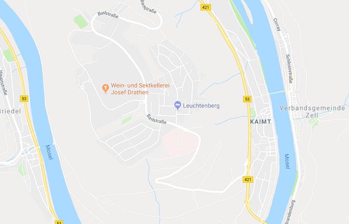 Kartenausschnitt mit Lage der Ferienwohnung Leuchtenberg